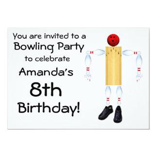 Birthday Bowling Party Invitation