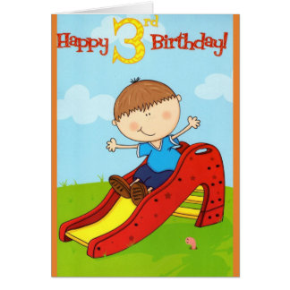 Birthday Boy 3rd Birthday Card