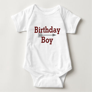 Birthday Boy - Boho Gray Arrow - Customize Baby Bodysuit