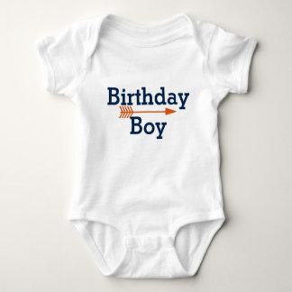 Birthday Boy - Boho Orange Arrow - Customize Baby Bodysuit