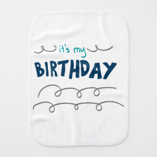 Birthday Boy Burp Cloth