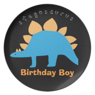 Birthday Boy Dinosaur Melamine Plates for Kids