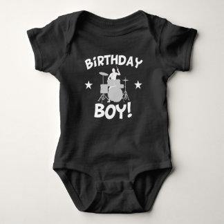 Birthday Boy Drummer Baby Bodysuit
