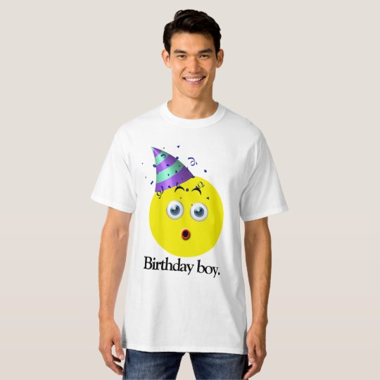 Birthday Boy Emoji T-Shirt