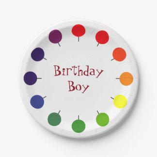 Birthday Boy lollipop buffet party paper plate