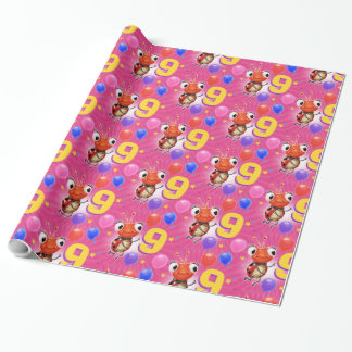 Birthday Boy or Girl age 9 Ladybug wrapping paper. Wrapping Paper