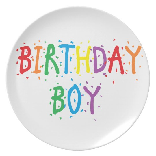 """Birthday Boy"" Plate"