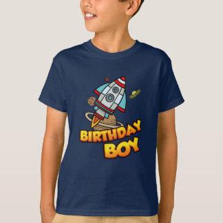 Birthday Boy Space Ship Astronaut Explorer T-Shirt