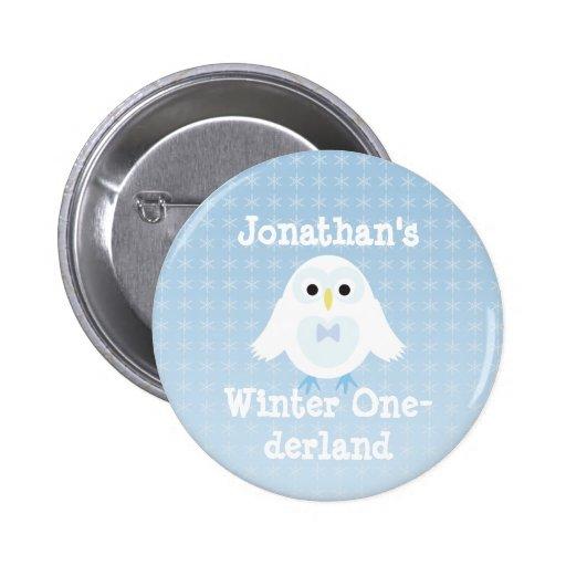 Birthday Boy Winter Onederland button