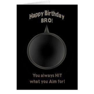 BIRTHDAY - BRO - GUN - AIM CARD