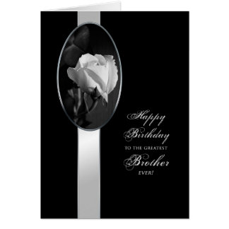 BIRTHDAY - BROTHER - ELEGANT ROSE CARD