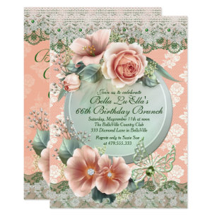 Birthday luncheon invitations announcements zazzle ca birthday brunch mothers day luncheon invitations filmwisefo Choice Image