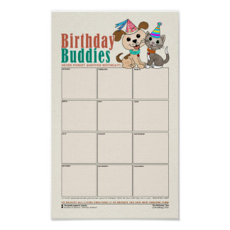 Birthday Buddies [reminder of birthdays] Poster