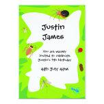 "Birthday Bugs Party Invitation 5"" X 7"" Invitation Card"