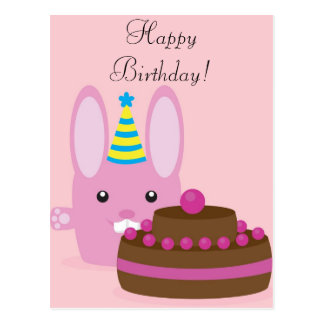 Birthday bunny postcard