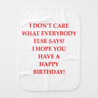birthday burp cloth