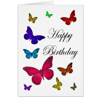 Birthday Butterflies Greeting Card