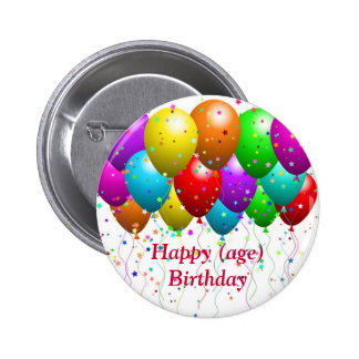 Birthday Button for matching card - customizable