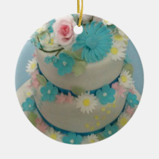 Birthday cake 1 ceramic ornament