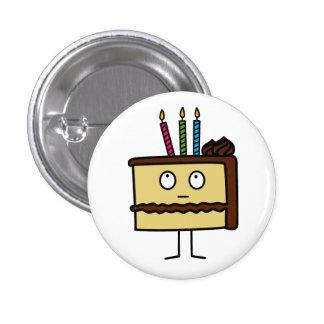 Birthday Cake 1 Inch Round Button