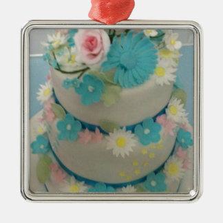 Birthday cake 1 metal ornament