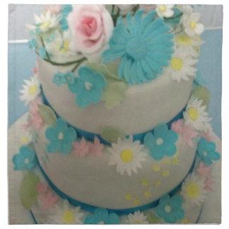 Birthday cake 1 printed napkins