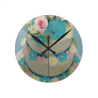 Birthday cake 1 round clock