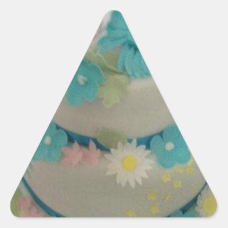 Birthday cake 1 triangle sticker
