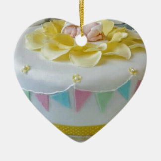 _birthday cake 2 ceramic ornament