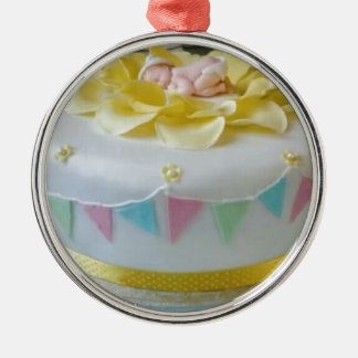 _birthday cake 2 metal ornament