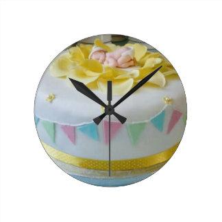 _birthday cake 2 round clock