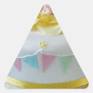 _birthday cake 2 triangle sticker