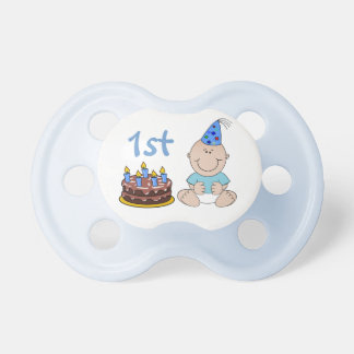 Birthday Cake Baby Boys Blue First Birthday Pacifier