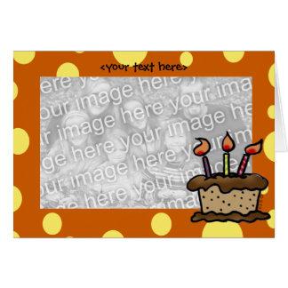Birthday cake card template