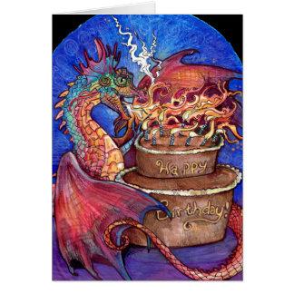 Birthday Cake Dragon Card