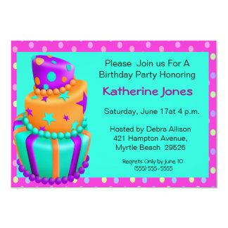 Birthday Cake Invitations
