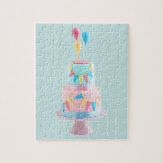 Birthday cake jigsaw puzzle