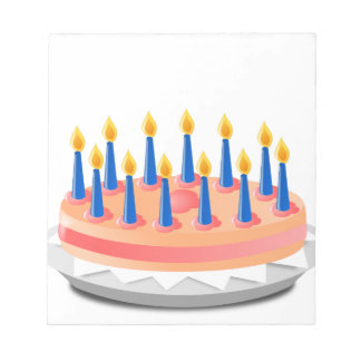 Birthday Cake Notepad