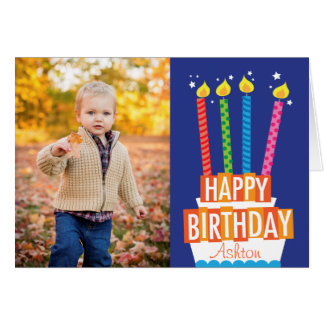 Birthday Cake Photo Greeting Card
