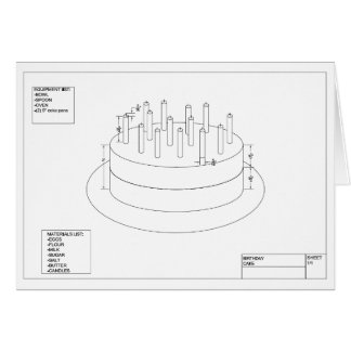 Birthday Cake Plan to Party Card