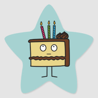 Birthday Cake Star Sticker