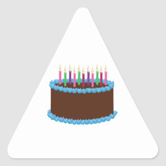 Birthday Cake Triangle Stickers