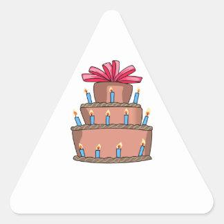 BIRTHDAY CAKE TRIANGLE STICKER