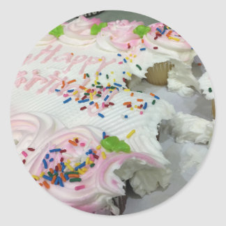 Birthday Cake Sweets Classic Round Sticker
