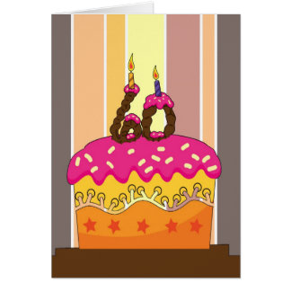 birthday - cake with candles 60 - 60th birthday gr card