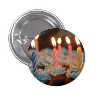 Birthday Candle Cupcakes 1 Inch Round Button