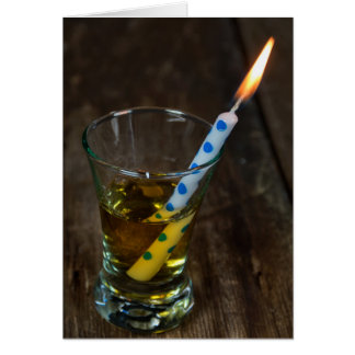 birthday candle in shot glass card