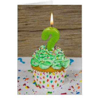 Birthday candle question mark card