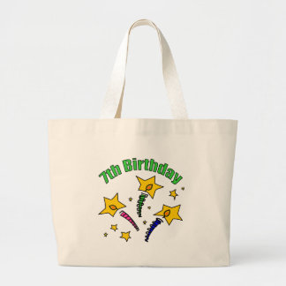 Birthday Candles 7th Birthday Gifts Canvas Bag