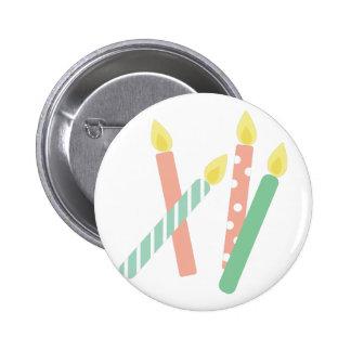 Birthday Candles 2 Inch Round Button